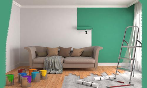 Краски для интерьера, кисточки, валики!
