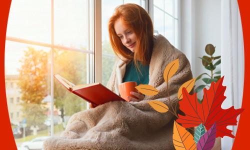 Осень, теплый плед и горячий чай!
